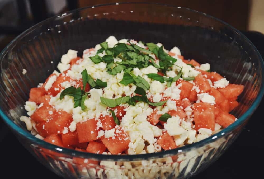 Watermelon + Feta Pasta Salad