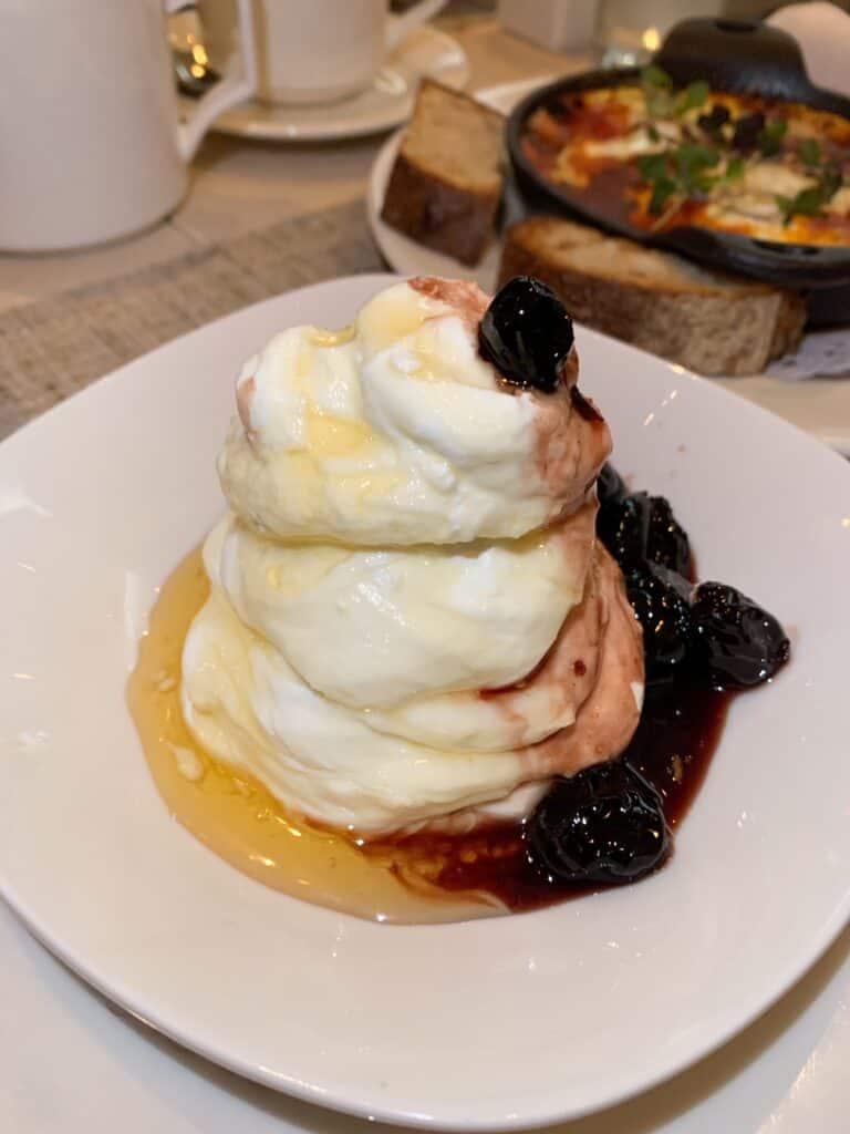 Greek Yogurt with Cherries - Must Eat Places in New York City