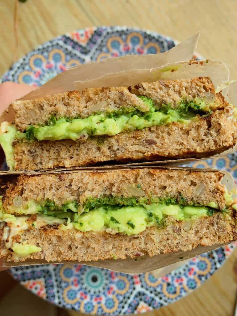 Hummus Avocado Toast - Must Eat Places in New York City