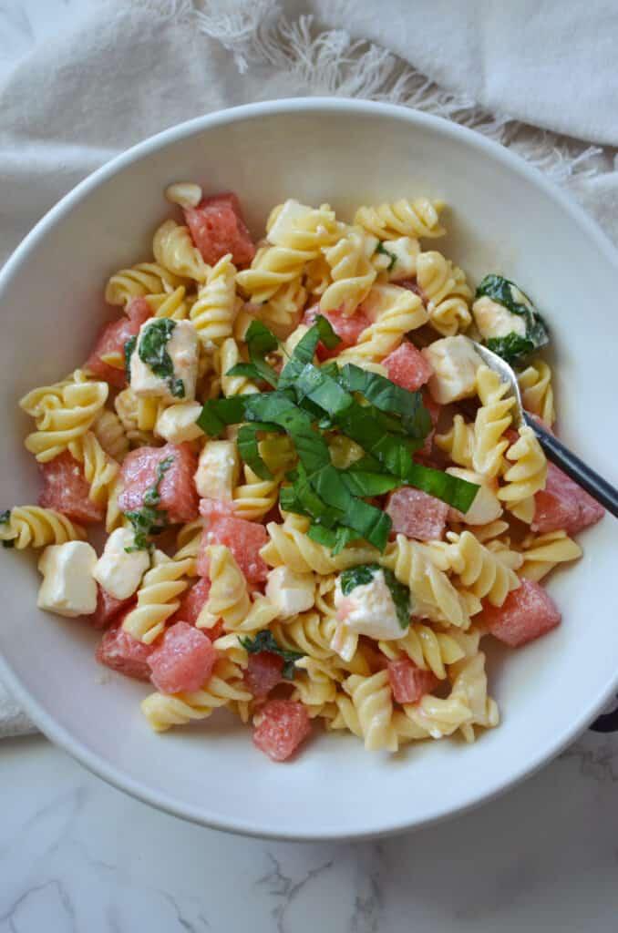 Watermelon Feta Pasta Salad